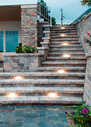 Outdoor Tread and Riser Lighting in Pittsburgh