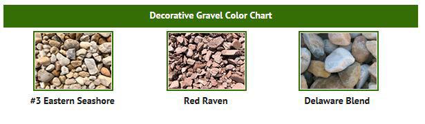 Decorative Gravel Color Chart