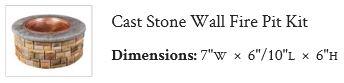Ep Henry Cast Stone Wall Fire Pit Kit Draguns