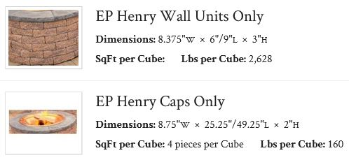 EP Henry Wall Units Only - EP Henry Caps Only